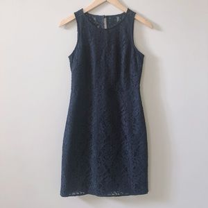 J. Crew Navy Blue Lace Sheath Dress Size 0